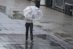 Lluvia en el  paddock