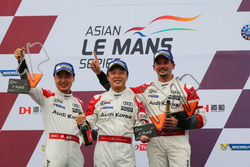 Podium GT winners: #31 Team Audi Korea Audi R8 LMS GT3: Kyong Ouk You, Marchy Lee, Alex Yoong