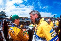 Michael Schumacher, Benetton, mit Flavio Briatore, Benetton, Teamchef