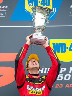 Podium: race winner Chaz Mostert, Rod Nash Racing Ford