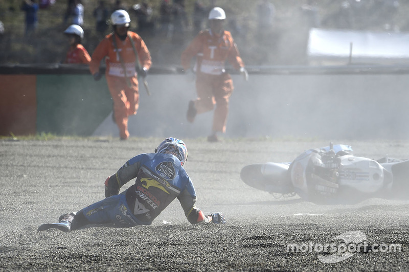 Jack Miller, Estrella Galicia 0,0 Marc VDS crash