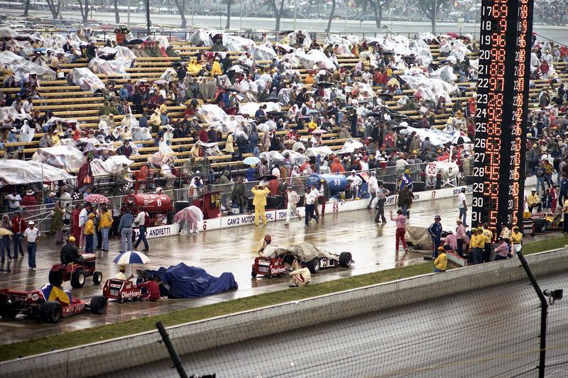 Lluvia durante la carrera