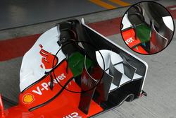 Ferrari SF16-H detail van de voorvleugel