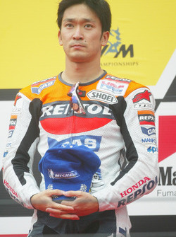 Podium: third place Tohru Ukawa, Repsol Honda Team