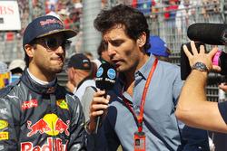 Daniel Ricciardo, Red Bull Racing and Mark Webber, Porsche Team WEC Driver and Channel 4 Presenter