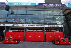 Garaje del pit de Ferrari