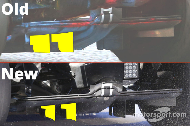 Diffuser Vergleich, McLaren