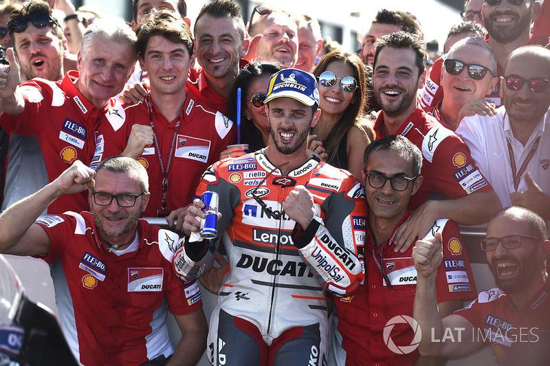 Переможець Андреа Довіціозо, Ducati Team