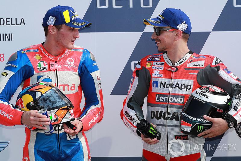 Володар поул-позиції Хорхе Лоренсо, Ducati Team, друге місце Джек Міллер, Pramac Racing