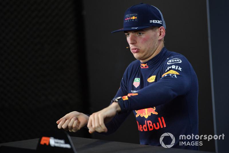 Max Verstappen, Red Bull Racing lors de la conférence de presse