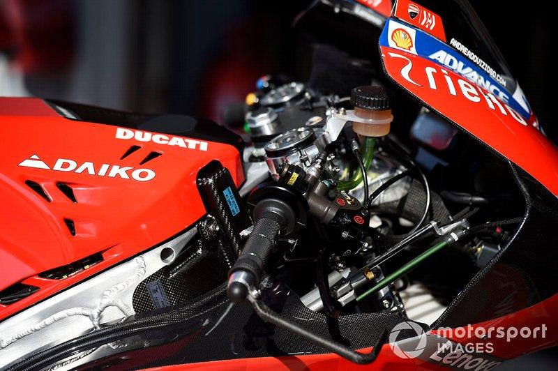 Dettaglio della moto del team Ducati