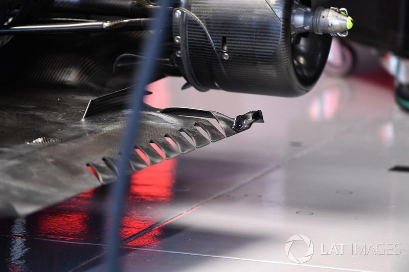 Mercedes F1 W08: Unterboden
