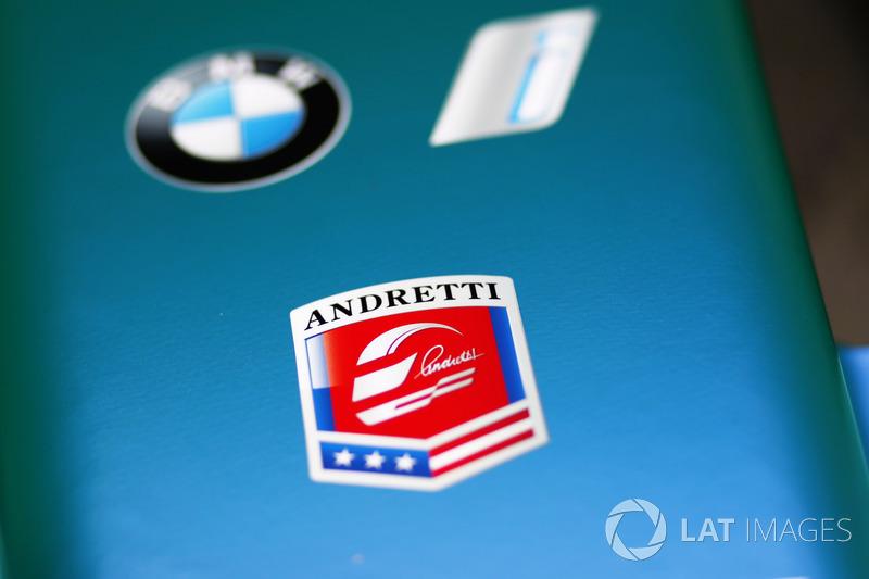 Andretti logo en el coche Andretti Formula E Team