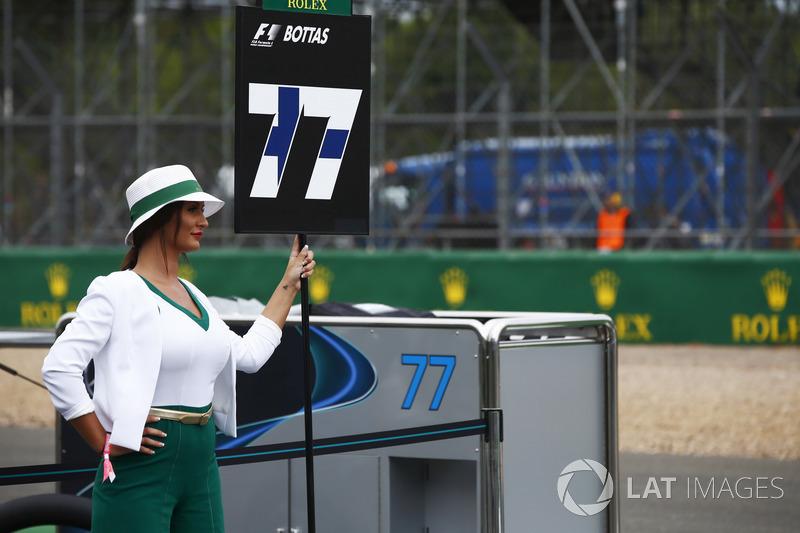 Chica de la parrilla para Valtteri Bottas, Mercedes AMG F1