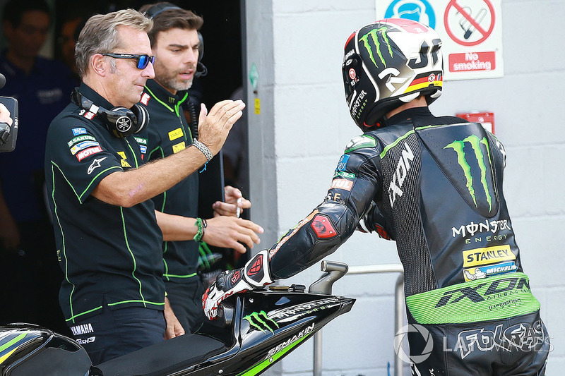 Hervé Poncharal, directeur du team Monster Yamaha Tech 3, Jonas Folger, Monster Yamaha Tech 3
