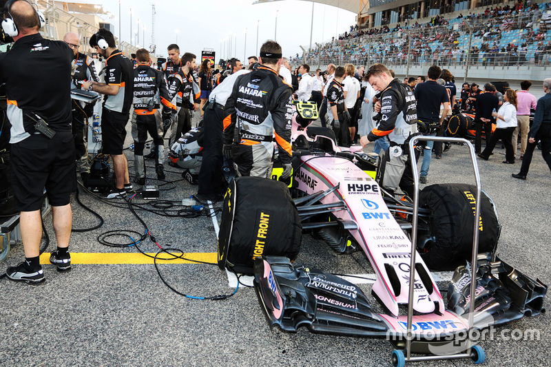 Car of Esteban Ocon, Force India VJM10