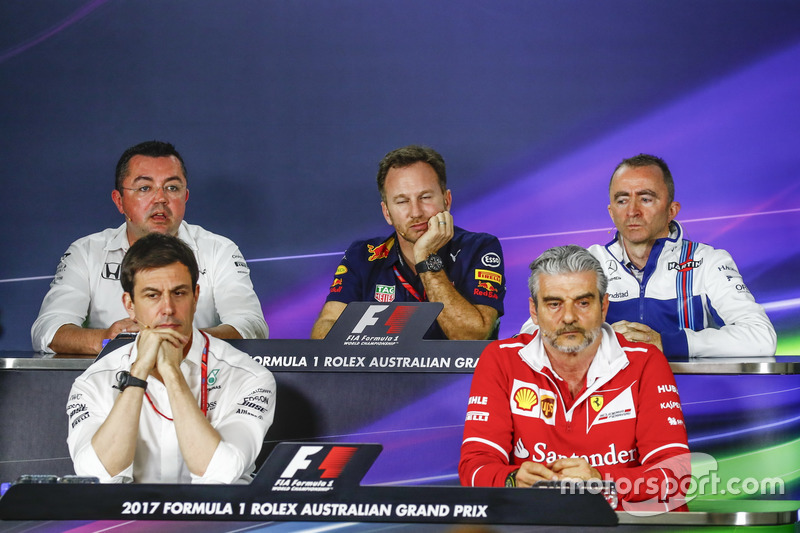 Eric Boullier, McLaren, Toto Wolff, Mercedes AMG, Christian Horner, Red Bull Racing, Paddy Lowe, Wil