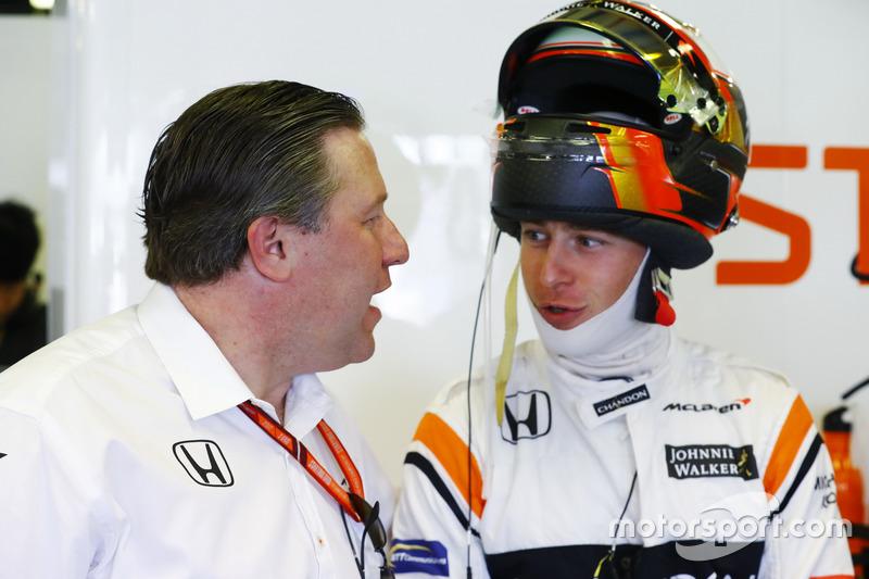 Виконавчий директор McLaren Technology Group, Зак Браун, Стоффель Вандорн, McLaren