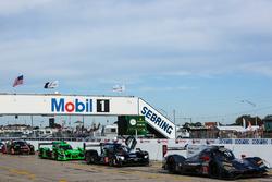 #70 Mazda Motorsports Mazda DPi: Joel Miller, Tom Long, Marino Franchitti; #10 Wayne Taylor Racing Cadillac DPi: Ricky Taylor, Jordan Taylor, Alex Lynn