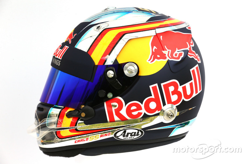 Casco de Carlos Sainz Jr., Scuderia Toro Rosso