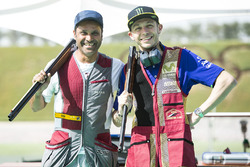 Valentino Rossi, Yamaha Factory Racing, Nasser Al-Attiyah at Losail Shooting club