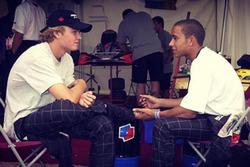 Rosberg e Hamilton