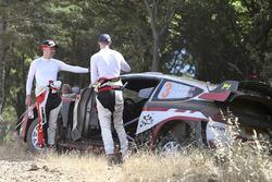 Elfyn Evans, Daniel Barritt, Ford Fiesta WRC, M-Sport after crash