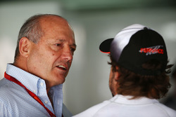 Ron Dennis, McLaren Executive Chairman with Fernando Alonso, McLaren