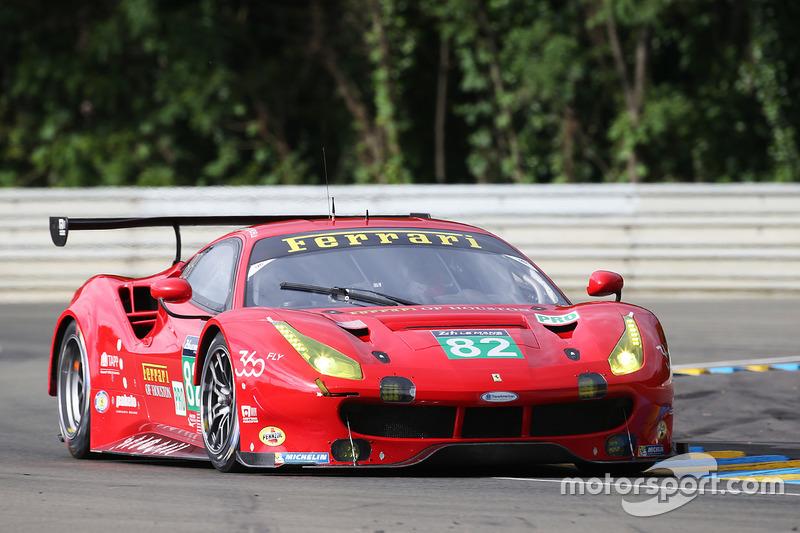 40: #82 Risi Competizione Ferrari 488 GTE: Giancarlo Fisichella, Toni Vilander, Matteo Malucelli