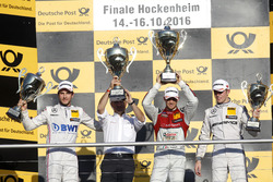 Podium: Racw winner Edoardo Mortara, Audi Sport Team Abt Sportsline, Audi RS 5 DTM; second place Christian Vietoris, Mercedes-AMG Team Mücke, Mercedes-AMG C63 DTM; third place Paul Di Resta, Mercedes-AMG Team HWA, Mercedes-AMG C63 DTM.