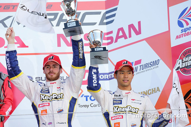 Podium GT500: 3. James Rossiter, Ryo Hirakawa, Team Tom's