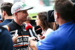 Nico Hulkenberg, Sahara Force India F1 con i media
