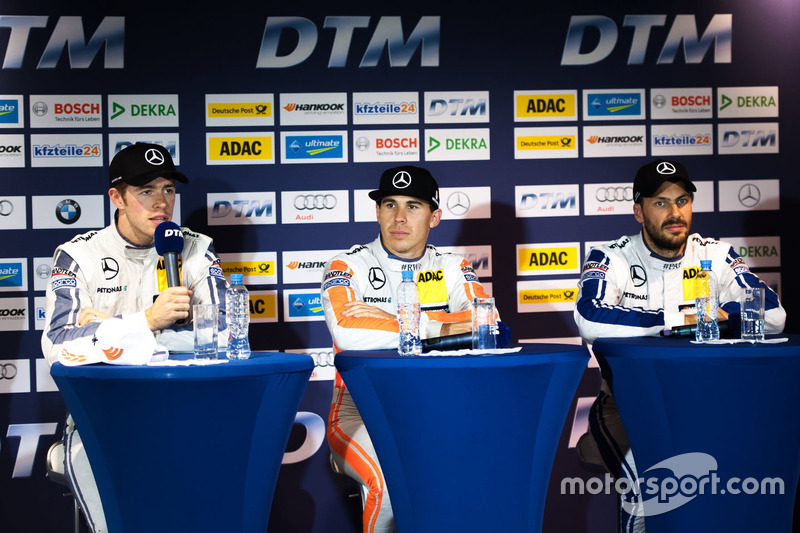Conferenza stampa: Paul Di Resta, Mercedes-AMG Team HWA, Mercedes-AMG C63 DTM; Robert Wickens, Merce