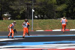 Marshals clear debris