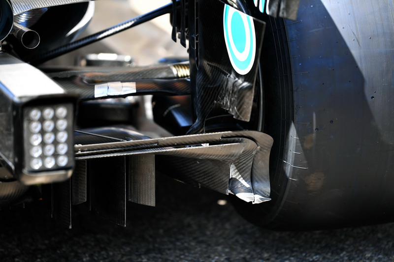 Mercedes-AMG F1 W09 rear diffuser detail