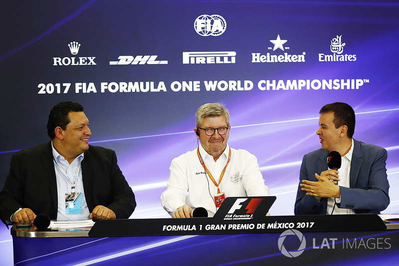Ross Brawn, Managing Director de Motorsports, FOM, en la conferencia de prensa