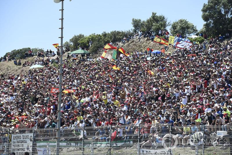 A torcida espanhola lotou o circuito de Jerez