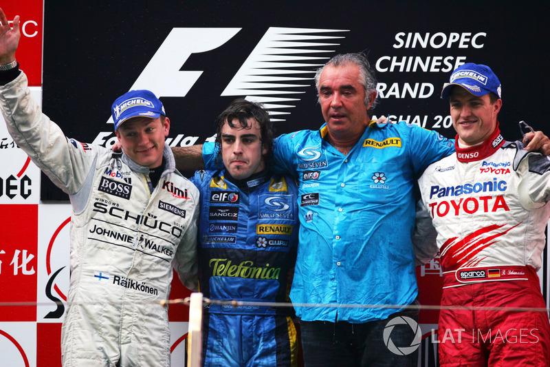 2005: 1. Fernando Alonso, 2. Kimi Räikkönen, 3. Ralf Schumacher