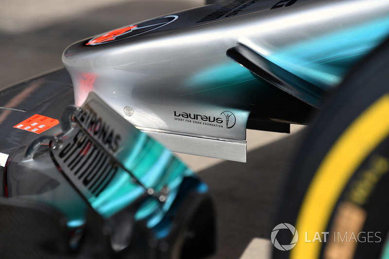 Mercedes-Benz F1 W08  nose detail