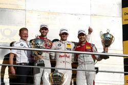 Podium: Race winner Marco Wittmann, BMW Team RMG, BMW M4 DTM, second place René Rast, Audi Sport Team Rosberg, Audi RS 5 DTM, third place Mike Rockenfeller, Audi Sport Team Phoenix, Audi RS 5 DTM, Stefan Reinhold, Team principal BMW Team RMG