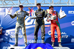 Podium: race winner Tanner Foust, Volkswagen, second place Scott Speed, Volkswagen, third place Patrik Sandell, Ford
