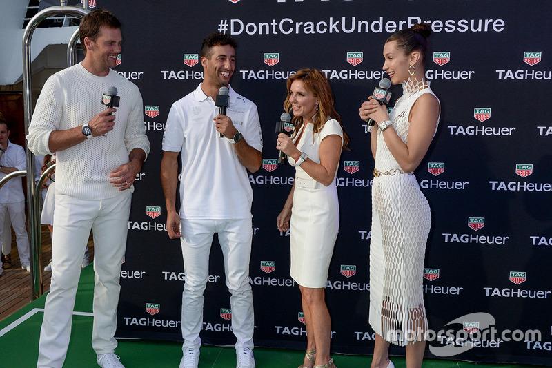 Tom Brady, Daniel Ricciardo, Red Bull Racing, Geri Halliwell Horner, Bella Hadid