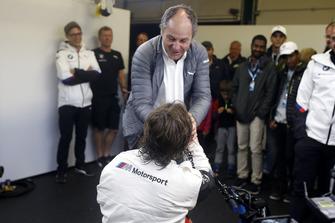 Alex Zanardi, BMW Team RMR et Gerhard Berger, président de l'ITR
