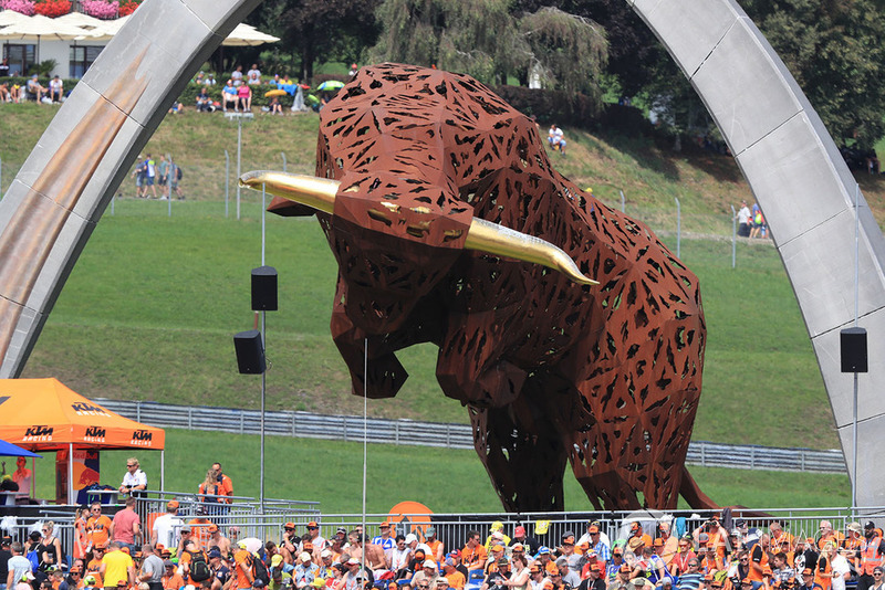 La sculpture du Red Bull Ring