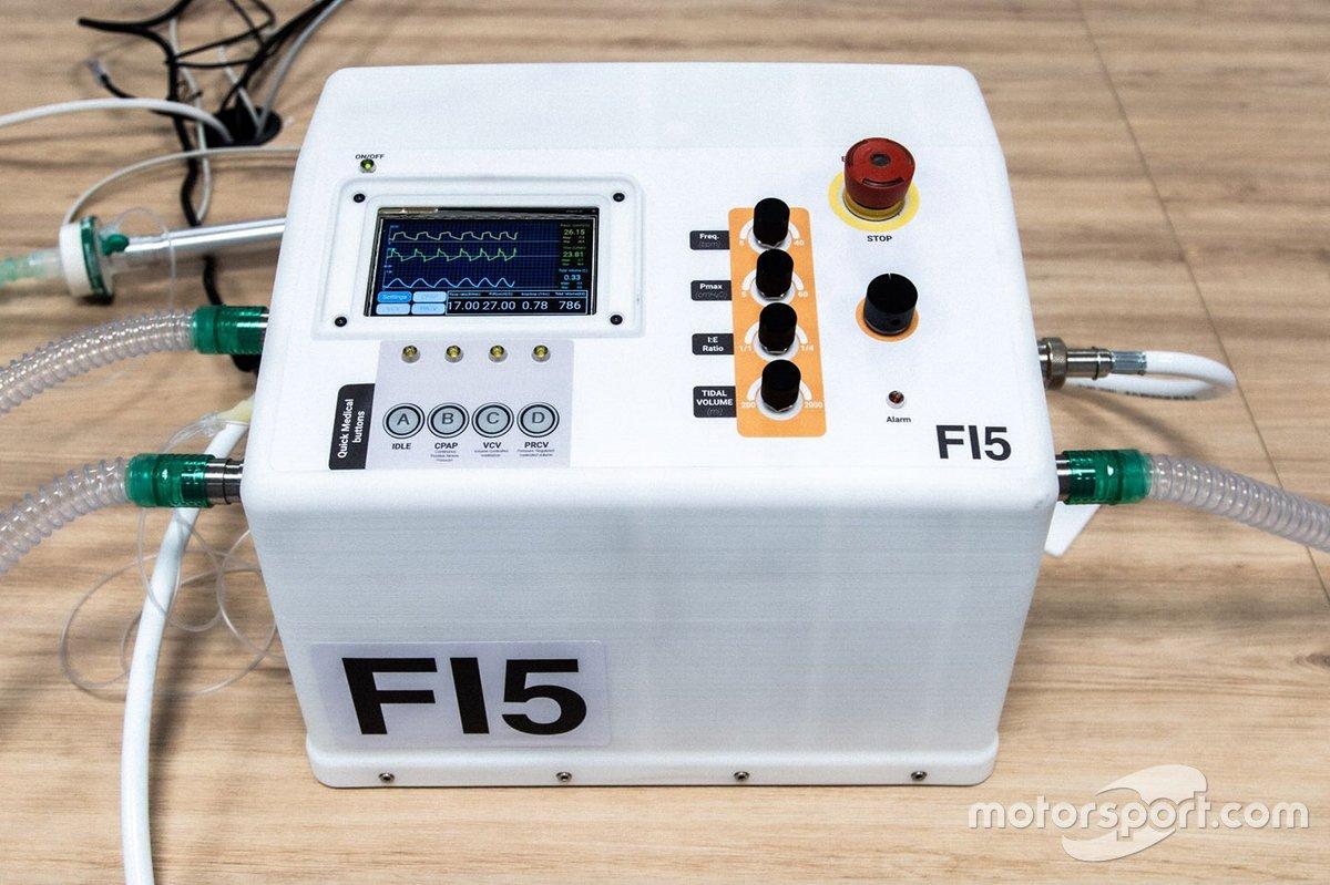 Formula 1 yapımı hayat kurtaran solunum cihazı
