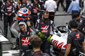 Romain Grosjean, Haas F1 Team, in griglia di partenza