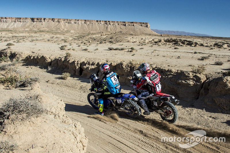 #6 Yamalube Yamaha Official Rally Team: Adrien Van Beveren, #11 Monster Energy Honda: Ricky Brabec