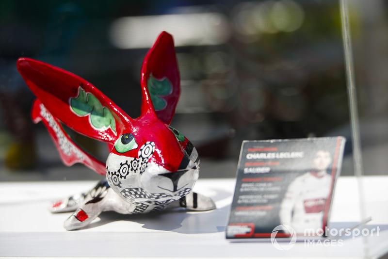 Гран Прі Мексики: статуетка Шарля Леклера, Sauber