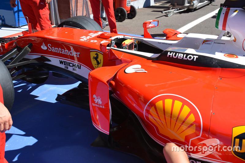 Side, Ferrari SF16-H