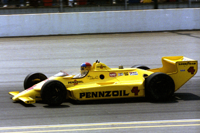 Le vainqueur Johnny Rutherford, Chaparral/Cosworth